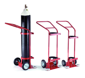 Warrior 6800L Oxygen Cylinder Trolley Red/Grey
