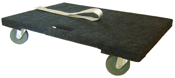 Warrior 300kg Padded Timber Dolly c/w Pulling Strap