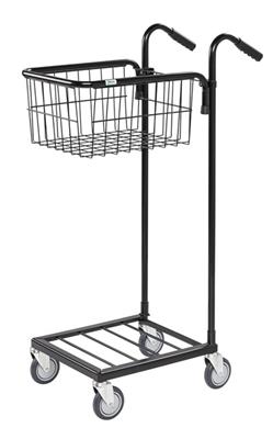 Warrior 35kg Mini Trolley c/w 1 Adjustable Basket (With Brakes)