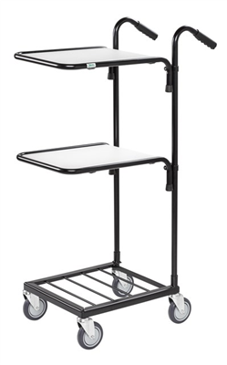 Warrior 35kg Mini Trolley c/w 2 Adjustable Shelves (With Brakes)