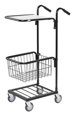Warrior 35kg Mini Trolley c/w 1 Adjustable Shelf & Basket (Without Brakes)
