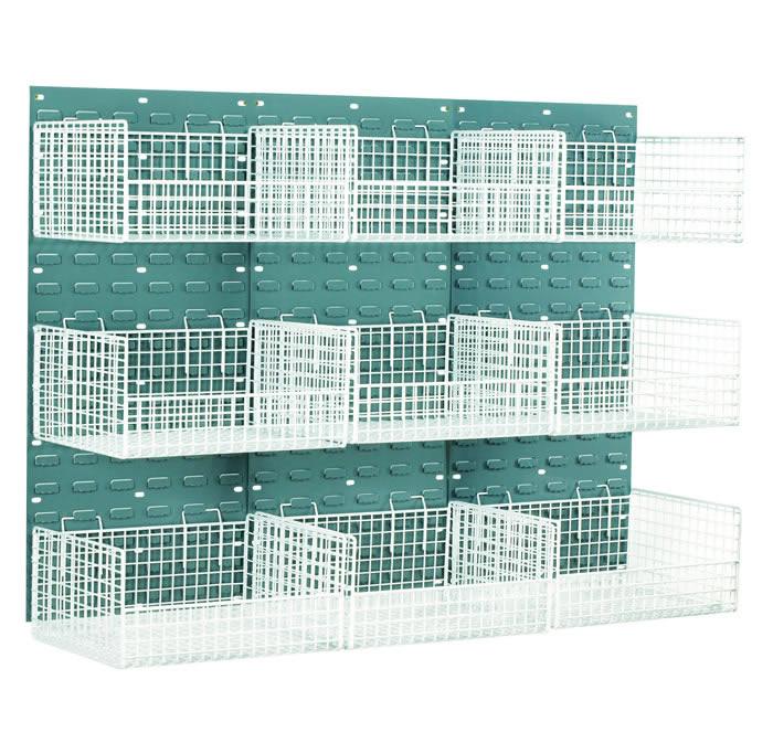 Warrior Mesh Basket Louvred Panel Kit c/w 6 Large Baskets