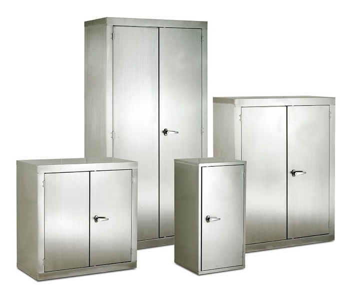 Warrior Single Stainless Steel CB Cupboard c/w 1 Shelf