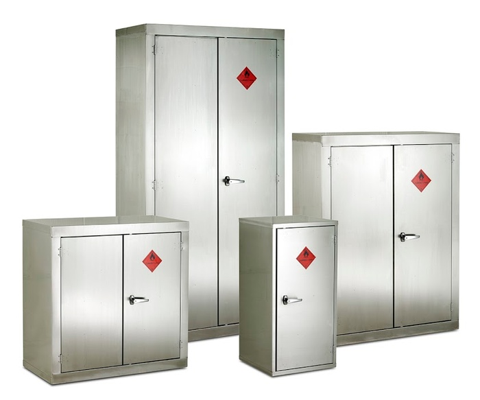 Warrior Stainless Steel FB Cabinet c/w 2 Shelves