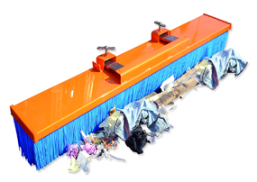 Tiger Basil Fork Mounted Sweeper (1200mm width)