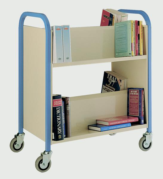 Warrior 2 Tier Double Sided Book Trolley