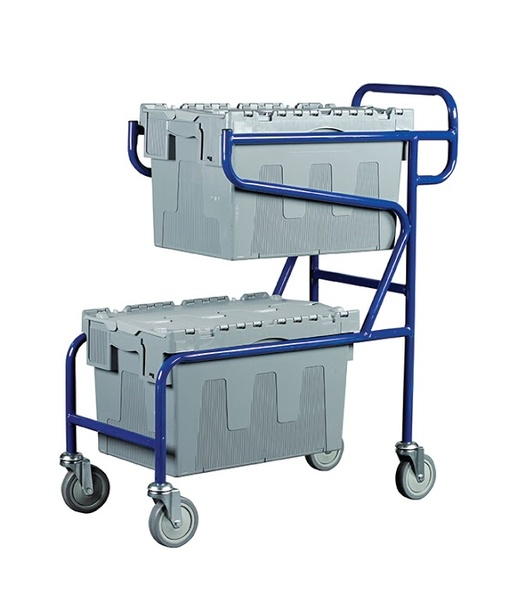 Warrior 100kg Double Container Trolley (B)