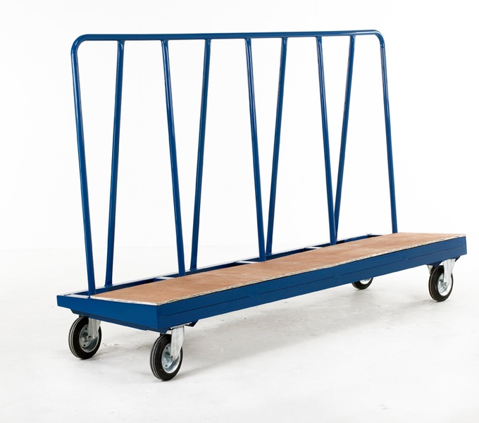 Warrior 750kg Hi-Frame Plate Truck (Plywood Deck)