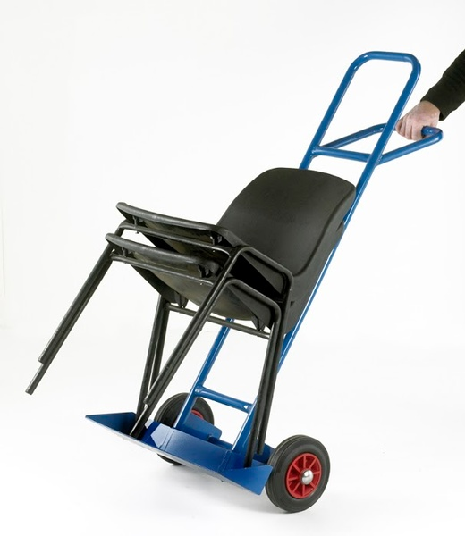 Warrior Blue Chair Truck c/w Rubber Cushion Wheels