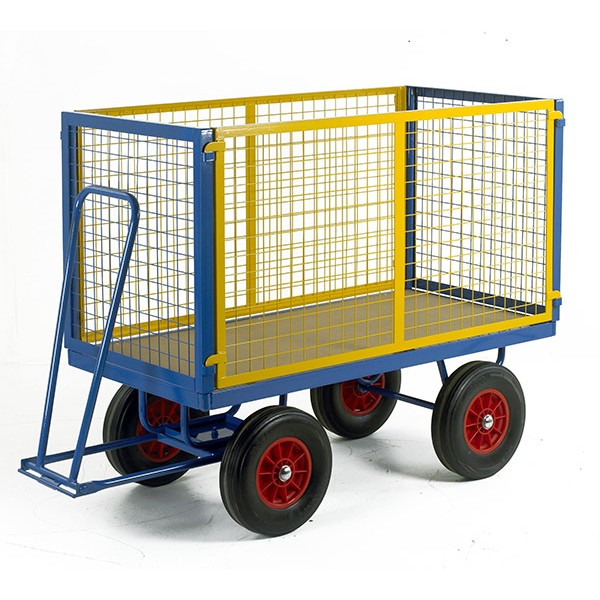 Warrior 1000kg Turntable Trailer with Mesh Cage Support