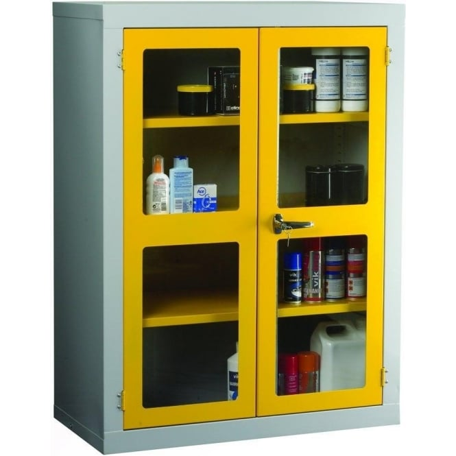 Tiger Polycarbonate Door Cabinet c/w 2 Shelves