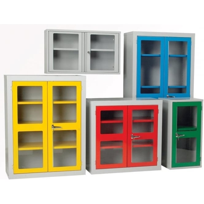 Warrior Polycarbonate Door Cabinet c/w 3 Shelves