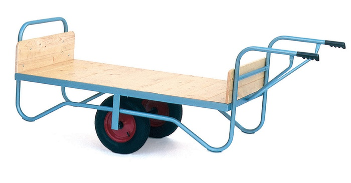 Warrior Single Handle Balance Trolley with Rubber Cushion/Pneumatic Wheels