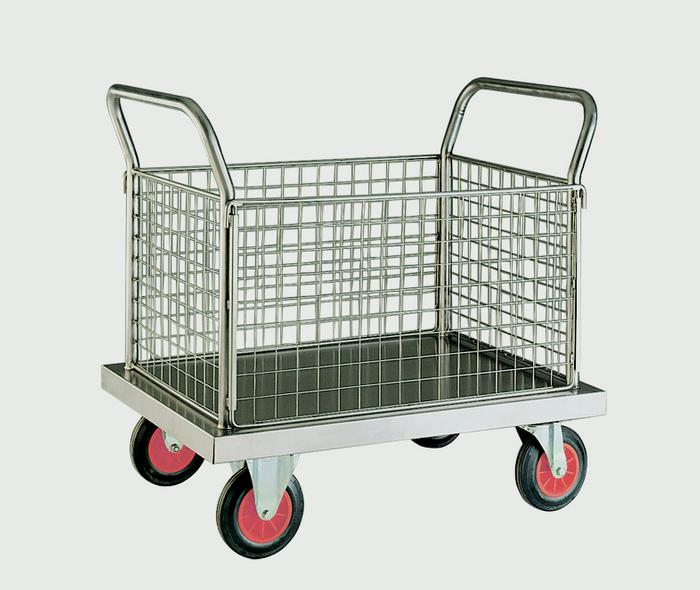 Warrior Stainless Steel Four Sided Platform Truck (A)