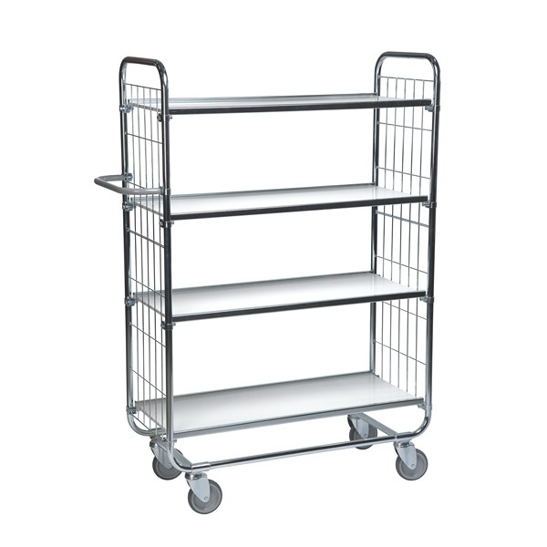 Warrior Flexible Shelf Trolley 1195 x 470 x 1590 mm (4 shelves)