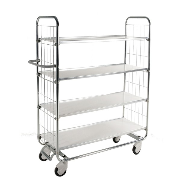 Warrior Trolley with Central Locking including 4 shelves