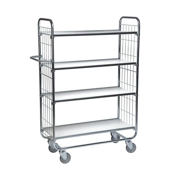 Warrior Flexible Shelf Trolley 1395 x 470 x 1590 mm (4 shelves)