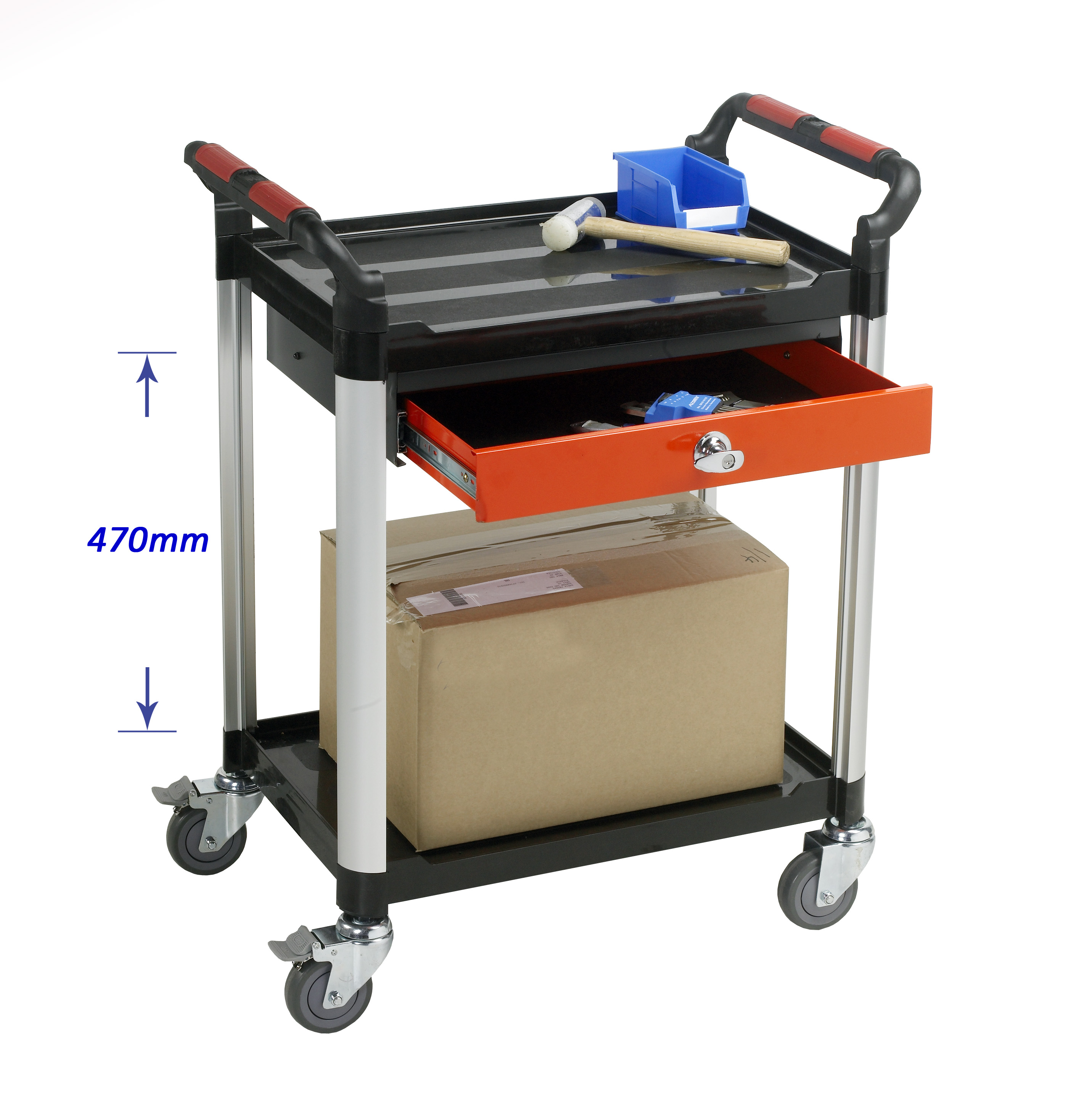 Warrior 2 Shelf Trolley With Drawer