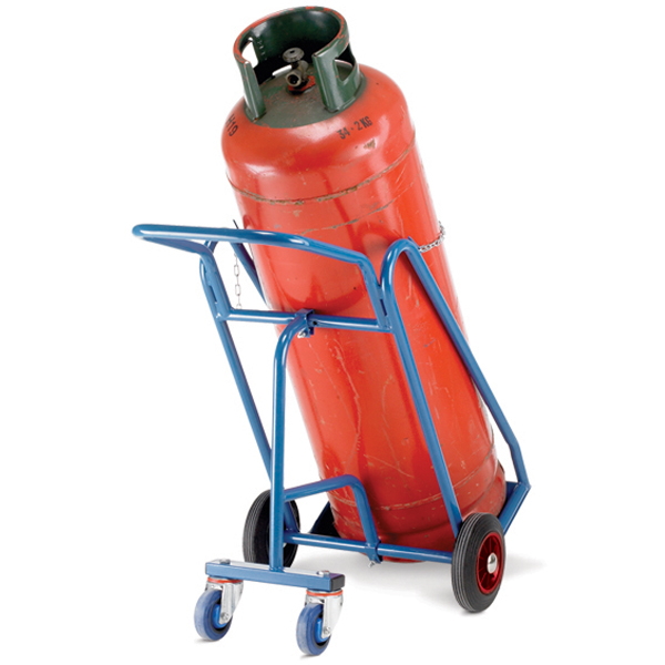Warrior 150kg Propane Cylinder Trolley with Rear Wheels
