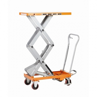 Warrior Premium 300Kg Double Scissors Manual Mobile Lift Table