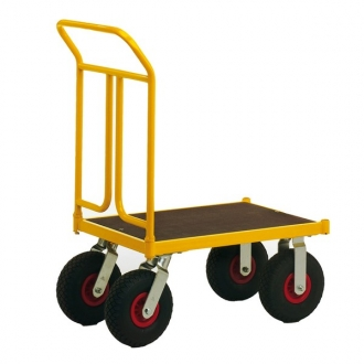 Warrior Rough Terrain Steel Platform Truck 750 x 500 mm