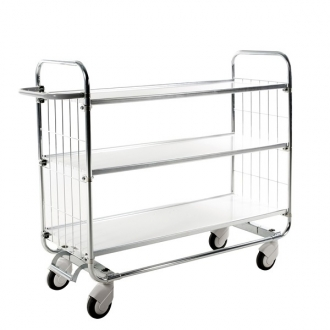 Warrior Trolley with Central Locking including 3 shelves