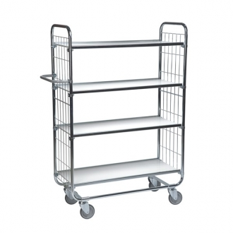 Warrior Flexible Shelf Trolley 1395 x 470 x 1590 mm (4 shelves)