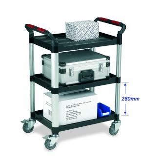 Warrior 3 Shelf Trolley (Standard)