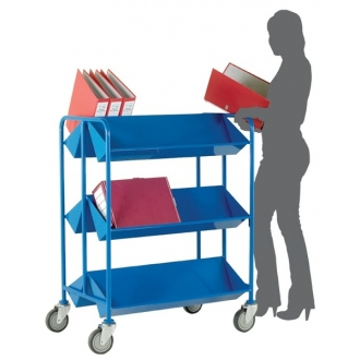 Warrior 250kg UDL Capacity Double Sided Book Trolley