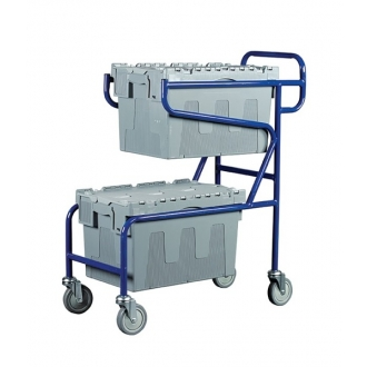 Warrior 100kg Double Container Trolley (A)