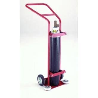 Warrior 1360L Oxygen Cylinder Trolley Red/Grey