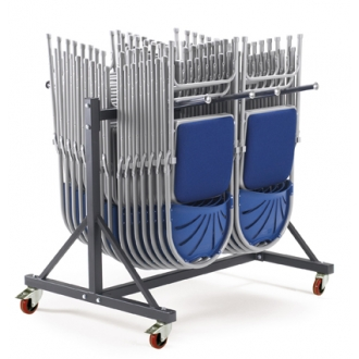 Warrior 250kg One  Tier 2 Row Upright Chair Trolley