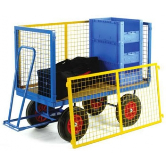 Warrior 500kg Turntable Trailer with Mesh Cage Support