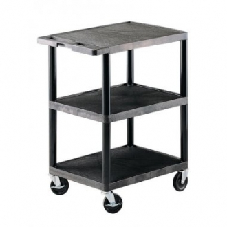 Warrior 250kg Steel 3 Shelf Trolley