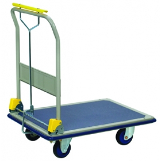 Warrior 300kg Folding Flatbed Trolley with Brake
