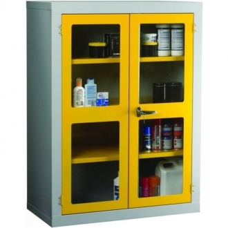 Warrior Polycarbonate Door Cabinet c/w 2 Shelves