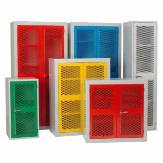 Warrior Mesh Door Cabinet c/w 3 Shelves