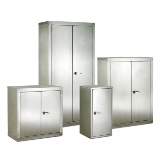 Warrior Stainless Steel CB Cupboard c/w 2 Shelves
