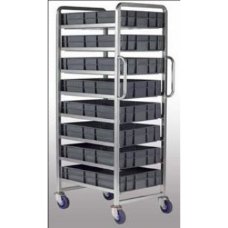 Warrior 6 Tier Euro Container Tray Trolley