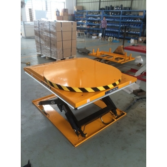 Warrior 1000kg Low Profile Electric Lift Table c/w Rotating Platform