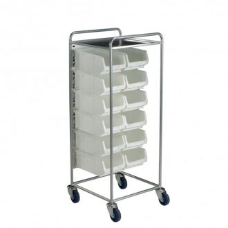 Warrior Container Trolley c/w 18 x TC3 White Containers