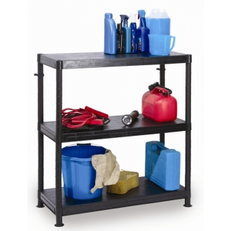 Warrior 3 Tier Modular Plastic Shelving Unit