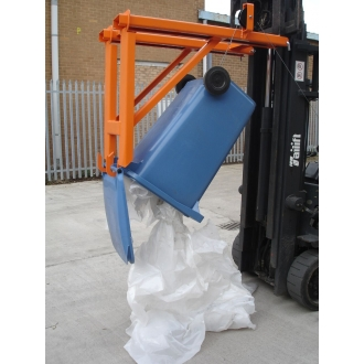 100kg Fork Mounted Wheelie Bin Lifter