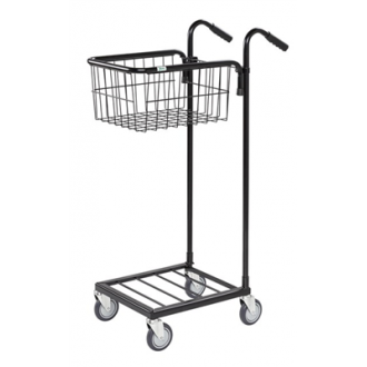 Warrior 35kg Mini Trolley c/w 1 Adjustable Basket (With Brakes)
