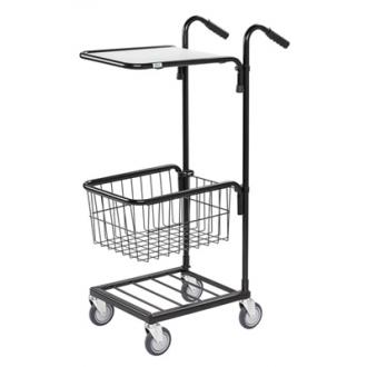 Warrior 35kg Mini Trolley c/w 1 Adjustable Shelf & Basket (With Brakes)